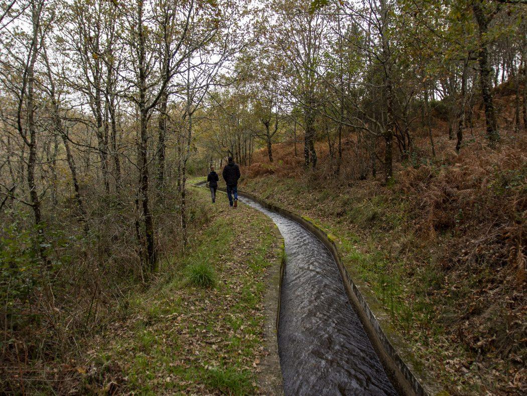 Levada do Lourêdo no Vale do Lourêdo em Ribeira de Pena na Serra do Alvão